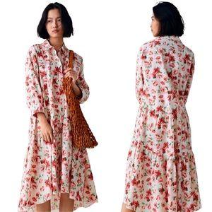 ZARA | Tiered Floral Midi Dress